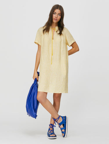 Tunic dress di puro lino
