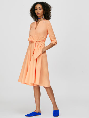 Wrap dress in popeline di cotone