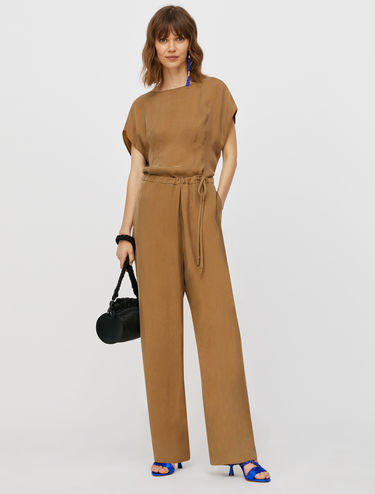Jumpsuit in fluid twill