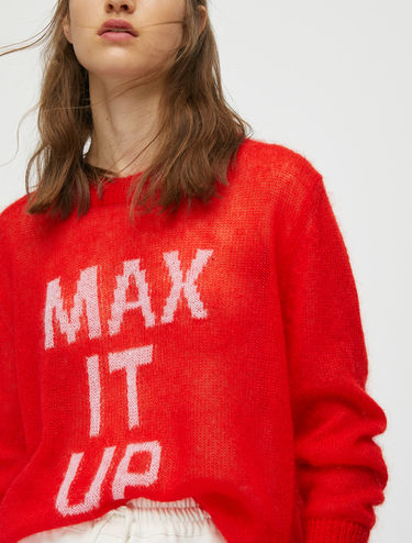 MAX IT UP intarsia jumper