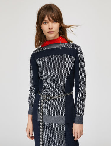 3D colour-block jumper