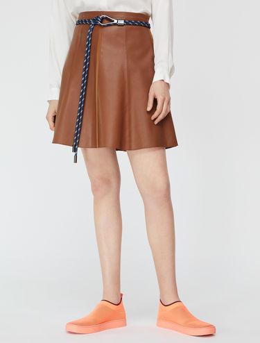 Nappa A-line skirt