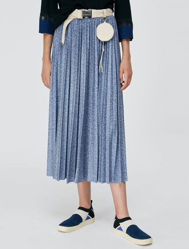 Jersey pleated skirt