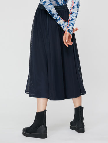 Technical mesh Corolla Midi Skirt