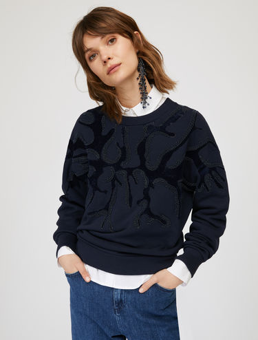 Sweatshirt with underwater pattern