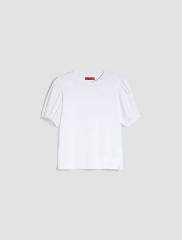 T-shirt con maniche a palloncino