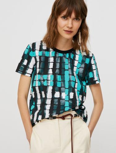 プリント スパンコール Tシャツ