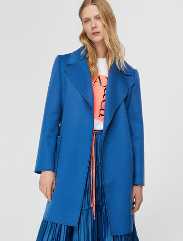 Cashmere double wrap coat