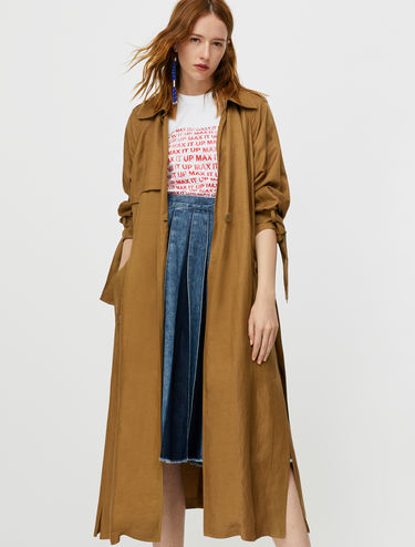 Long trench-coat déstructuré
