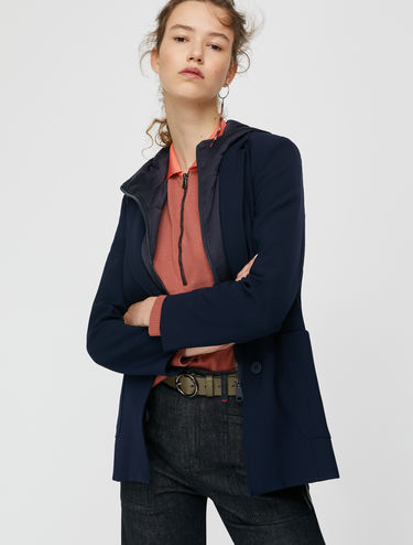 Two-in-one blazer with padded gilet