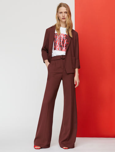 Deconstructed blazer with three-quarter-length sleeves