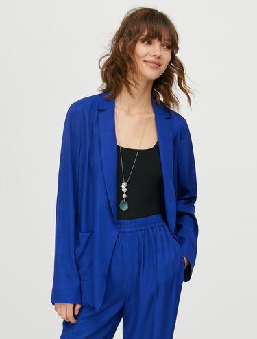 Unstructured twill blazer