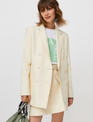Cotton and linen blazer