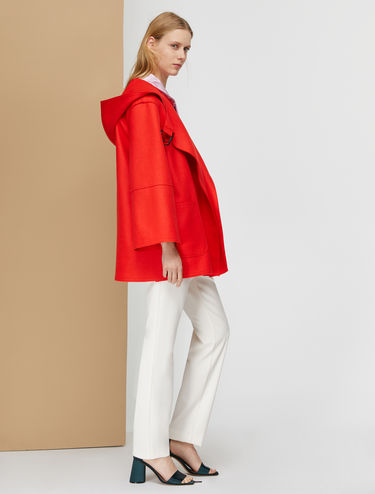 Raw-cut broadcloth peacoat