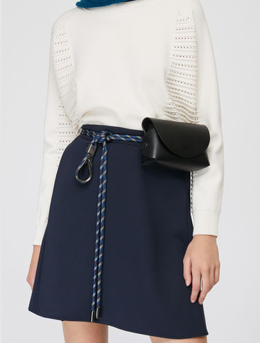 Skirt with asymmetric pleating