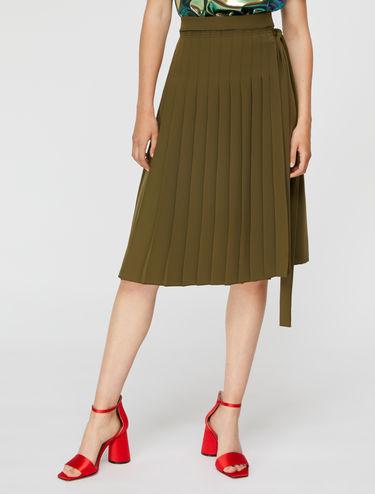 サイド リボン プリーツ スカート