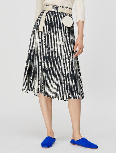 A-line twill skirt
