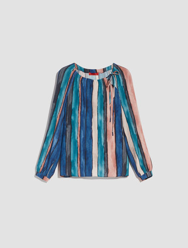 Blusa in sablé di viscosa
