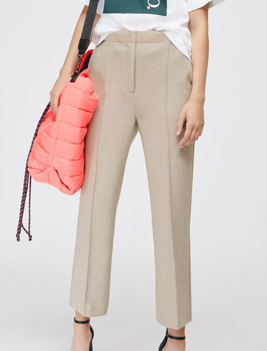 Straight leg bistretch trousers