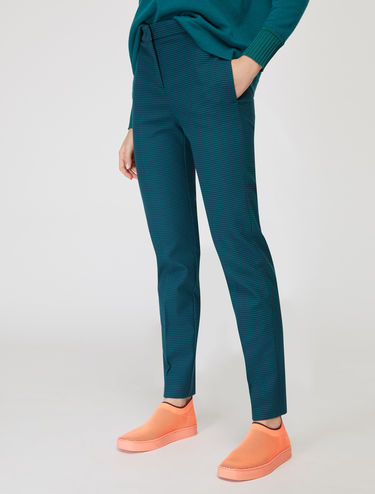 Slim-fit micropattern trousers