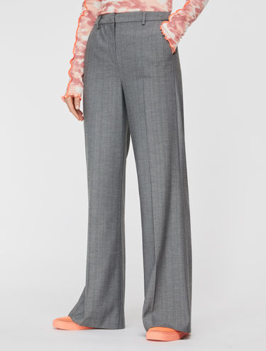 Straight-line micropattern trousers