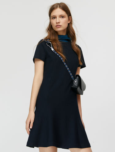 Microprint shift dress