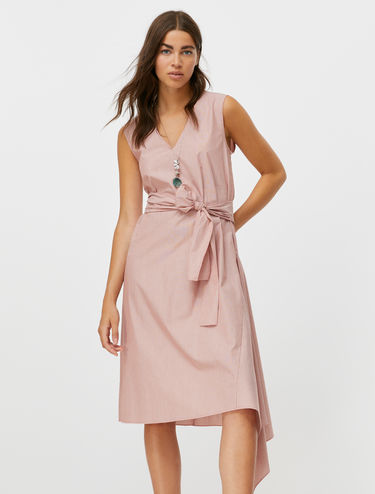 Asymmetrical pure cotton dress