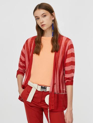 Oversized linen cardigan