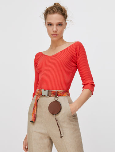 Extra-slim ribbed jumper