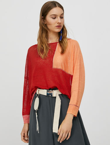 Oversized linen jumper