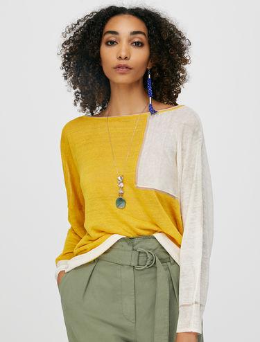 Oversize linen jumper