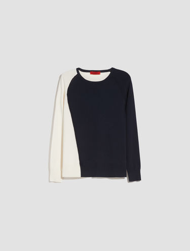 Jumper with wavy trim