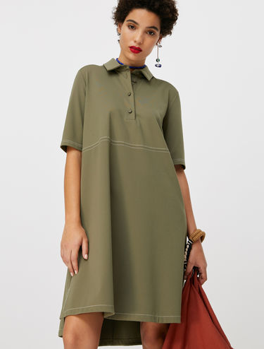 Polo shift dress in jersey