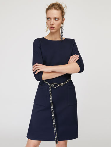 Shift dress with rubber trim