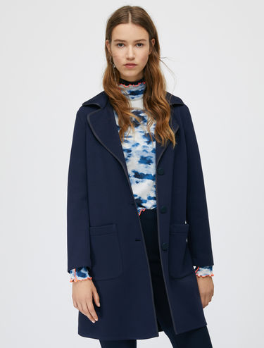 Jersey coat with rubber profiles