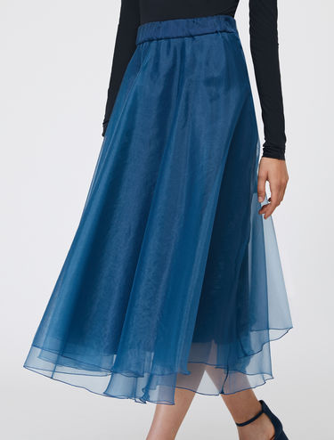 Double-layer organza skirt