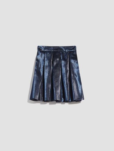 Falda Corolla de lamé irisado