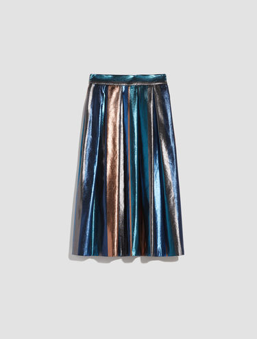 Striped lamé Corolla midi Skirt