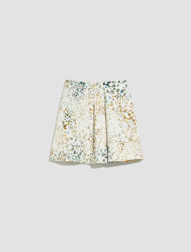 A-line skirt in cotton satin