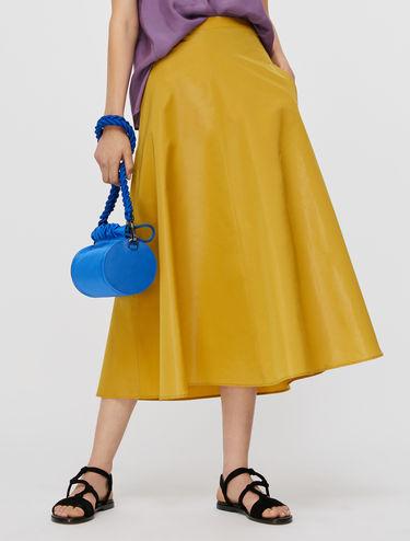 Taffeta A-line skirt