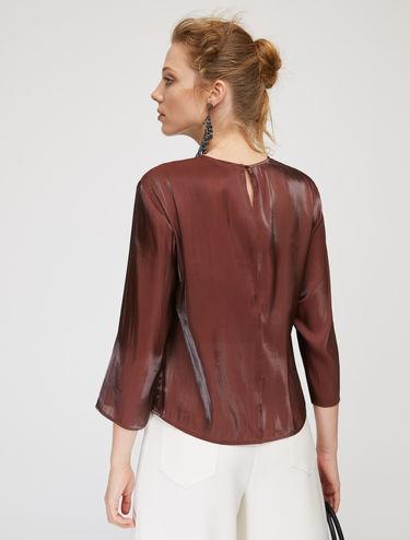 Iridescent organza blouse