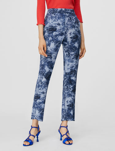 Straight-fit satin trousers