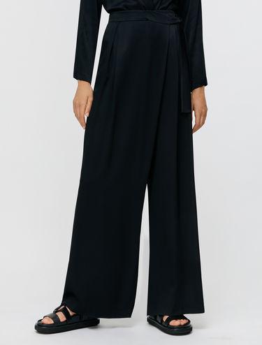 Satin sarong trousers