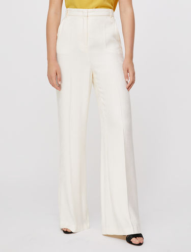 Jacquard straight-fit trousers
