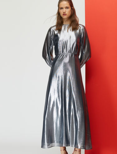 Silk lamé maxi dress