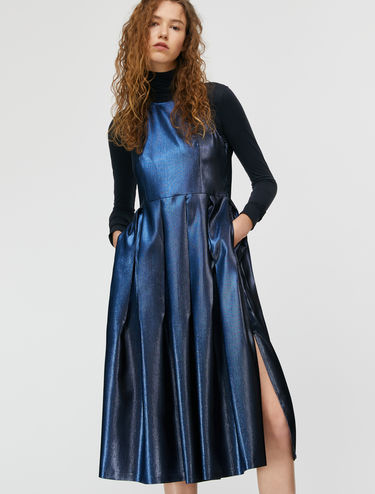 Midi lamé Corolla Dress
