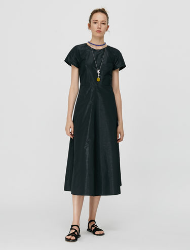 Taffeta fit-and-flare dress
