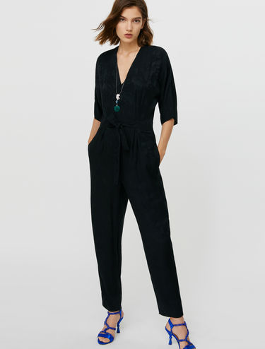 Jacquard-patterned jumpsuit