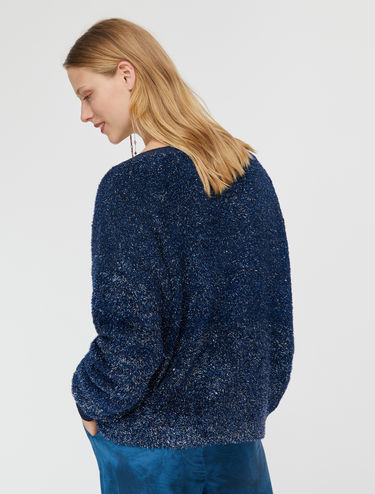 Plush iridescent lamé jumper