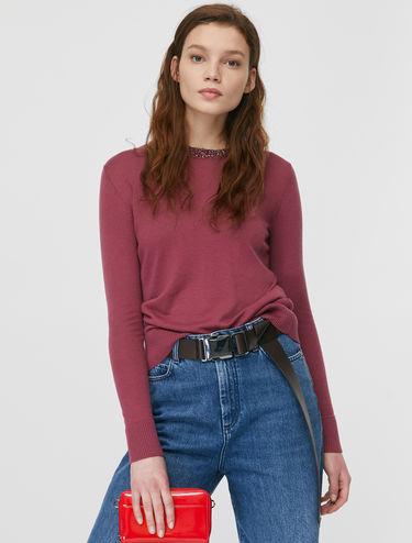 Jumper with sequin trim